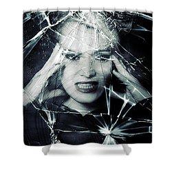 Broken Window Shower Curtain by Joana Kruse