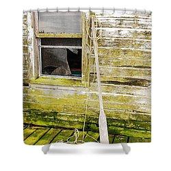 Broken Window Shower Curtain by Mary Carol Story
