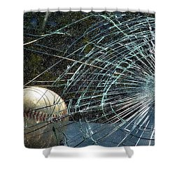 Shower Curtain featuring the photograph Broken Window by Robyn King