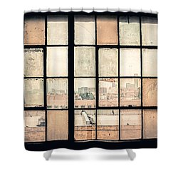 Broken Windows Shower Curtain