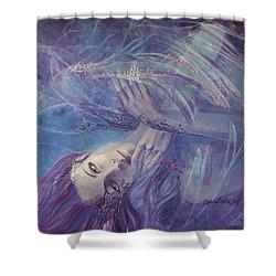 Broken Wings Shower Curtain by Dorina  Costras