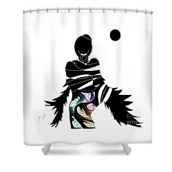 Broken Wings Shower Curtain
