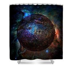 Broken World Shower Curtain by Deena Stoddard