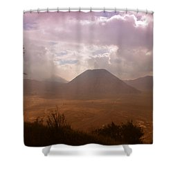 Bromo Shower Curtain by Miguel Winterpacht