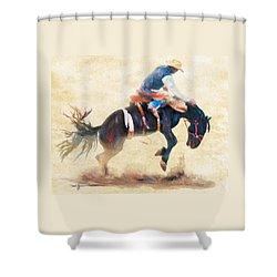 Da104 Bronco By Daniel Adams Shower Curtain