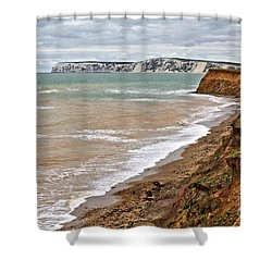 Brook Bay And Chalk Cliffs Shower Curtain
