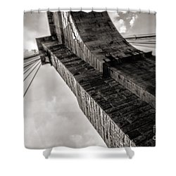 Shower Curtain featuring the photograph Brooklyn Bridge by Angela DeFrias