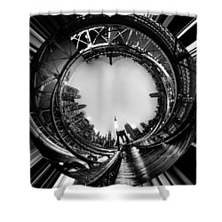 Brooklyn Bridge Circagraph 4 Shower Curtain by Az Jackson