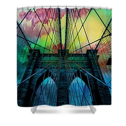 Psychedelic Skies Shower Curtain by Az Jackson