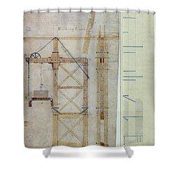 Brooklyn Bridge: Diagram Shower Curtain by Granger