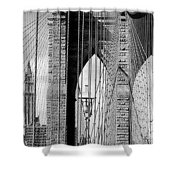 Brooklyn Bridge New York City Usa Shower Curtain by Sabine Jacobs