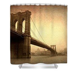 Brooklyn Bridge Nostalgia II Shower Curtain