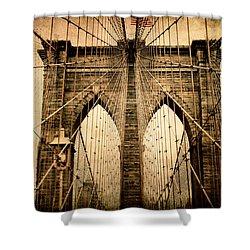 Brooklyn Bridge Nostalgia Shower Curtain