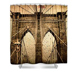 Brooklyn Bridge Nostalgia Shower Curtain by Jessica Jenney