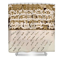 Brooklyn Dodgers Baseball Team Shower Curtain