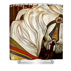 Shower Curtain featuring the photograph Brooklyn Hobby Horse by Joan Reese