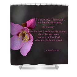 Shower Curtain featuring the photograph Brotherly Love by Larry Bishop