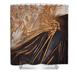 Brown And Gold Shower Curtain
