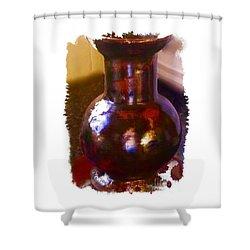 Brown Vase Design Shower Curtain by Joan-Violet Stretch