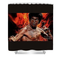 Bruce Lee Shower Curtain by Doc Braham