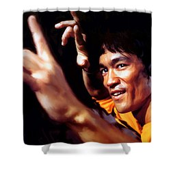 Bruce Lee Shower Curtain by Paul Tagliamonte
