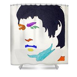 Bruce Lee Shower Curtain by Stormm Bradshaw