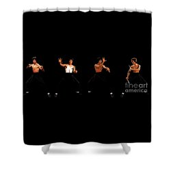 Bruce Lee - Times Four Shower Curtain