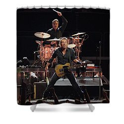 Bruce Springsteen In Concert Shower Curtain by Georgia Fowler