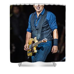 Bruce Springsteen Shower Curtain by Georgia Fowler