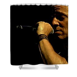 Bruce Springsteen Performing The River At Glastonbury In 2009 - 3 Shower Curtain