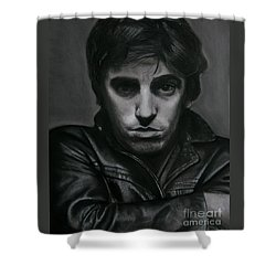 Bruce Springsteen Shower Curtain by Raine Cook