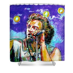 Bruce Springsteen Shower Curtain by Stan Esson
