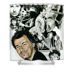Bruce Springsteen Through The Years Shower Curtain by Ken Branch