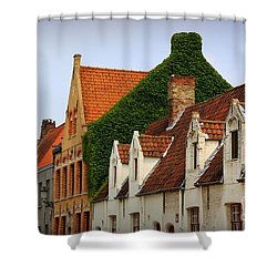 Bruges Rooftops Shower Curtain by Carol Groenen