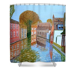Brugge Canal Shower Curtain