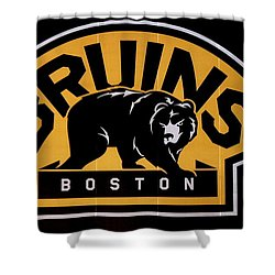 Bruins In Boston Shower Curtain