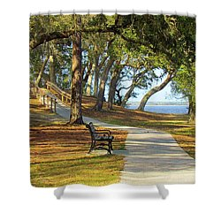 Shower Curtain featuring the photograph Brunswick Town by Cynthia Guinn
