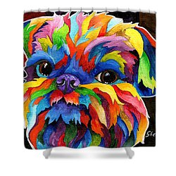 Brussels Griffon Shower Curtain by Sherry Shipley
