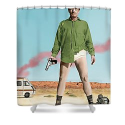 Bryan Cranston As Walter White  @ Tv Serie Breaking Bad Shower Curtain