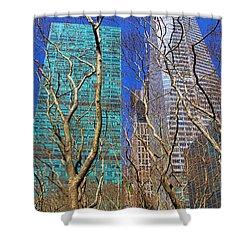 Bryant Park Shower Curtain by Mariola Bitner