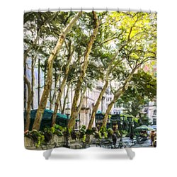 Bryant Park Midtown New York Usa Shower Curtain by Liz Leyden