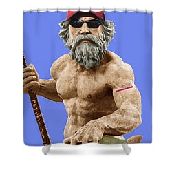 Bubba Neptune Shower Curtain by Mark Alder