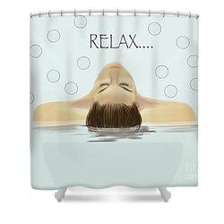Bubble Bath Luxury Shower Curtain