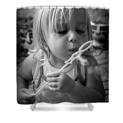 Shower Curtain featuring the photograph Bubble Fun by Laurie Perry