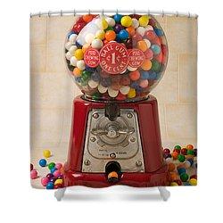 Bubble Gum Machine Shower Curtain by Garry Gay