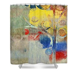 Bubble Tree - 43ff04 Right Shower Curtain by Variance Collections
