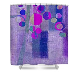 Bubble Tree - S85lc03 Shower Curtain by Variance Collections