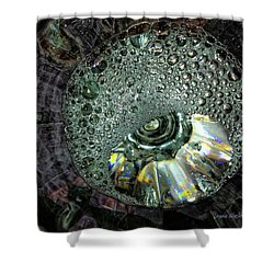 Bubble Trouble Shower Curtain by Donna Blackhall