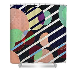 Bubble Universe Shower Curtain by Linda Dunn