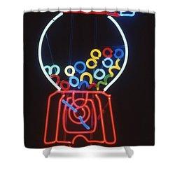 Bubblegum Machine Shower Curtain by Pacifico Palumbo